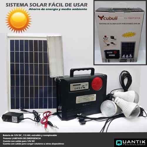 Kit Panou Solar Mare Acumulator 12V 7,5A, 3 Becuri LED USB Radio MP3