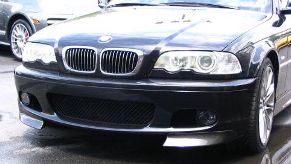 BMW e46 CSL сплитери, добавки за М предна броня