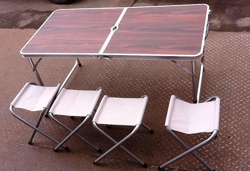 Стол складной туристический со стульями 4 шт. (120x60) Акция!!
