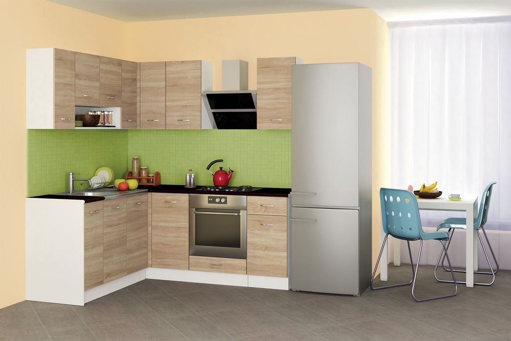 Кухня Алис 3 -дъб сонома - ъглова конфигурация