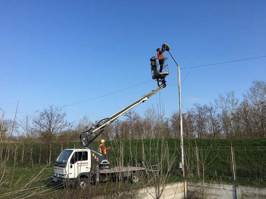 Prb, nacela, platforma autoridicatoare pe sașiu cu brat telescopic 18m