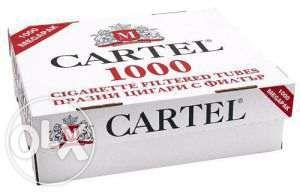 Tuburi pentru tigari Cartel - 1000 buc. la cutie pentru injectat tutun