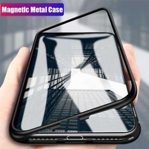 Husa iPhone 8 PLUS, Magnetica 360 grade cu spate de sticla securizata