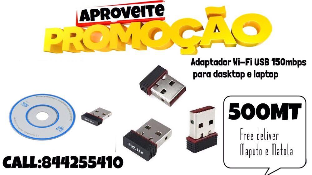 Aproveite promoção adaptador Wi-Fi USB 2.0 150mbps