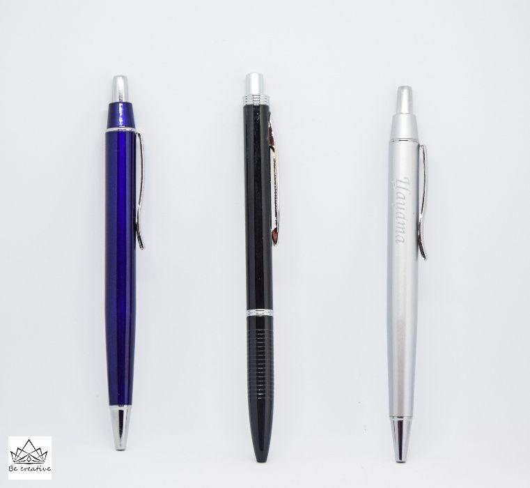Метална химикалка с метална кутия, лазерно гравирана