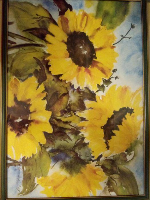 Tablou Flarea soarelui cu rama