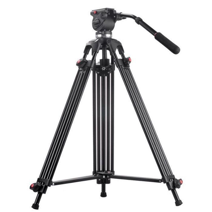 Trepied video aluminiu cap fluid JY0508B Kit 190 CM, Pret 650 lei
