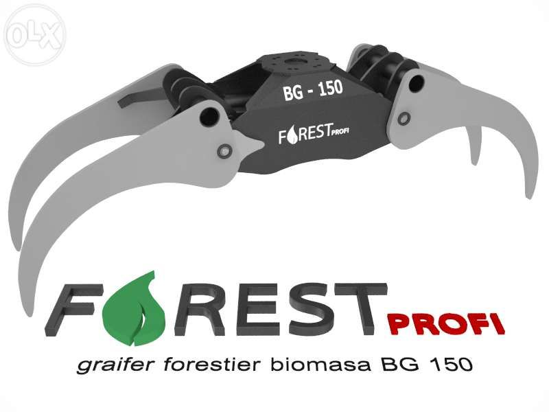 Graifer forestier BG 150 deschidere 1500mm
