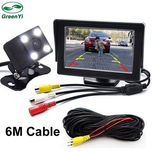 Kit monitor 4.3inch cu camera marsarier universala cu cablu de 6m