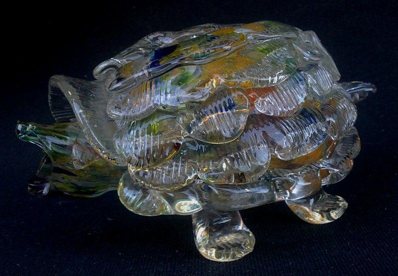 broasca testoasa din sticla obiect decorativ deosebit