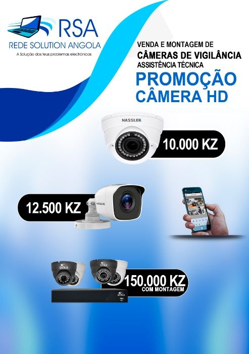 kit de vigilância com 4 câmara HD 720p + DV-R + Disco Duro+Montagem