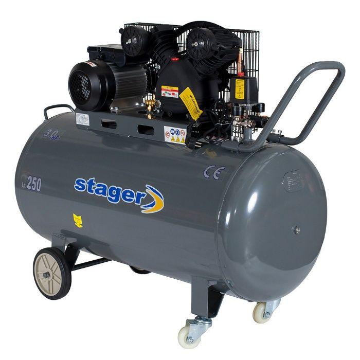 Compresor Aer Profesional Stager HMV 0.25/250, 2.2KW, 250L/min, 250L. Mogosoaia - imagine 3