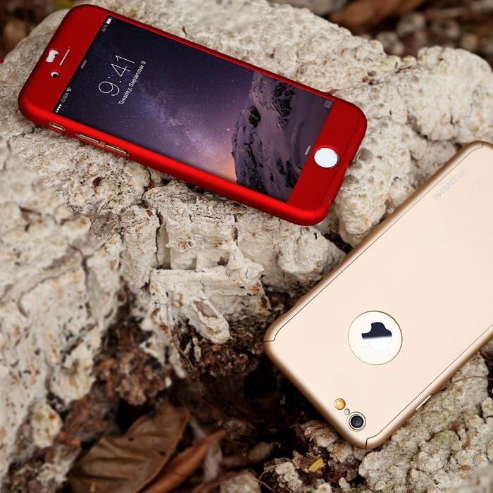 Husa GOLD 360 GRADE FATA- SPATE iPhone 7PLUS( Folie de sticla GRATIS)