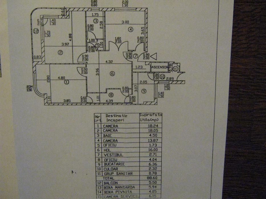 Apartament 3/4 cam Mosilor Central Bucuresti - imagine 6