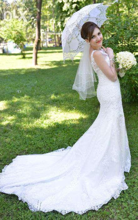 rochie de mireasa Mon Cheri si voal