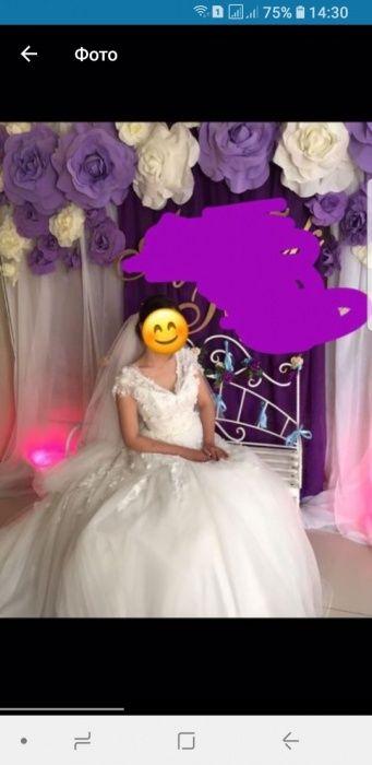 Продается счастливое свадебное платье со шлейфом
