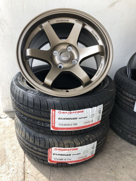 "Rays VolkRacing, Size ""15"", 4/100 Furos ""Moz_Tyres"""