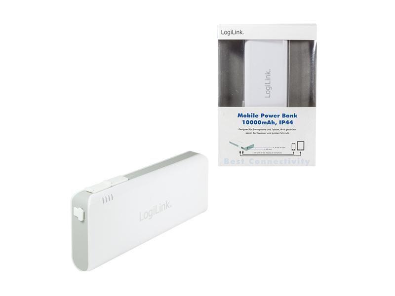 Logilink Mobile Power Bank 10000mAh, IP44 мобилно зарядно за телефони
