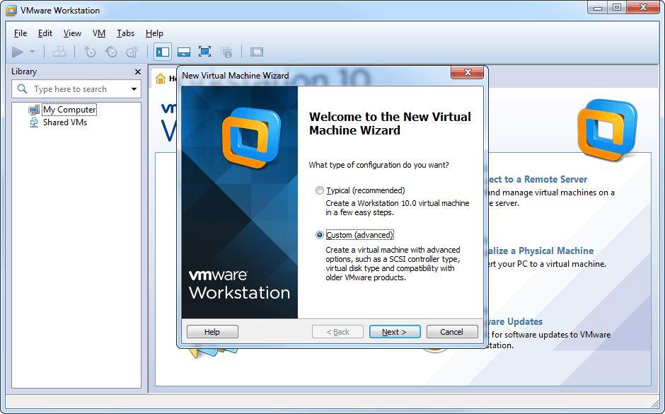 instalação de Vmware Workstation (Virtual Box)
