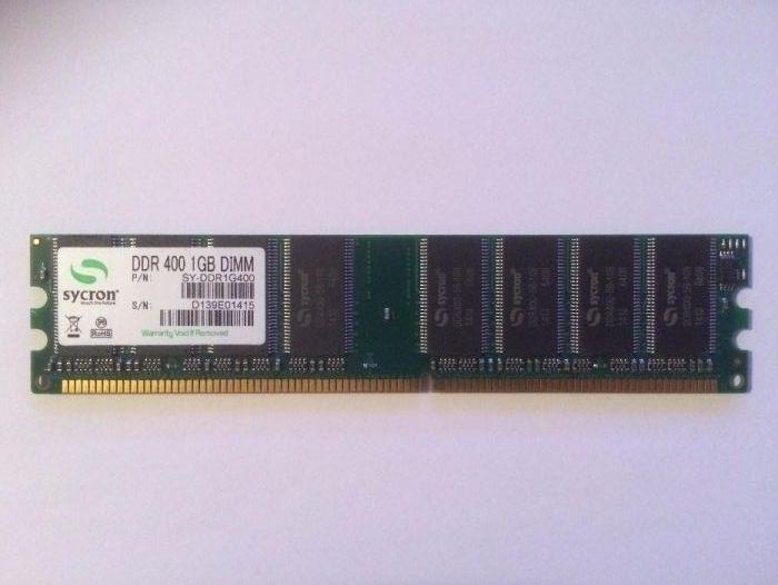 Memorie RAM Sycron 1GB DDR-400 DIMM, 1GB, DDR1 desktop pc