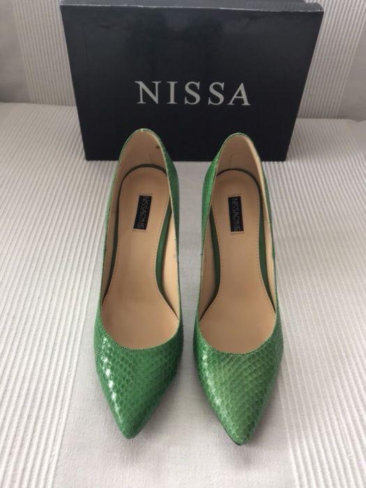 Pantofi Nissa din piele autentica de sarpe, marime 39, noi