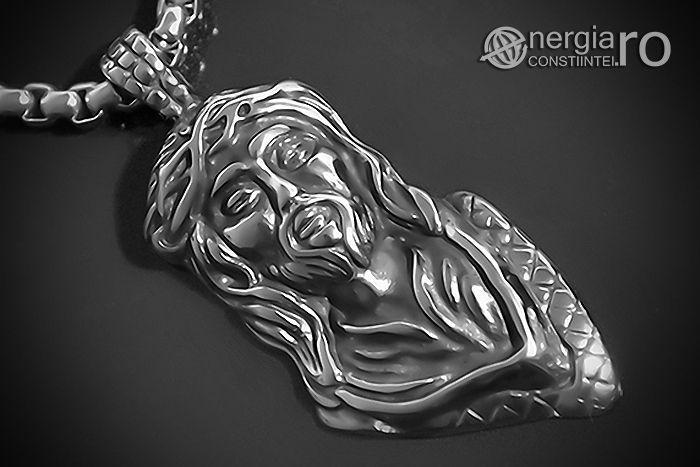 Amuleta Pandantiv Iisus Hristos INOX (simbol sacru) - cod PND060