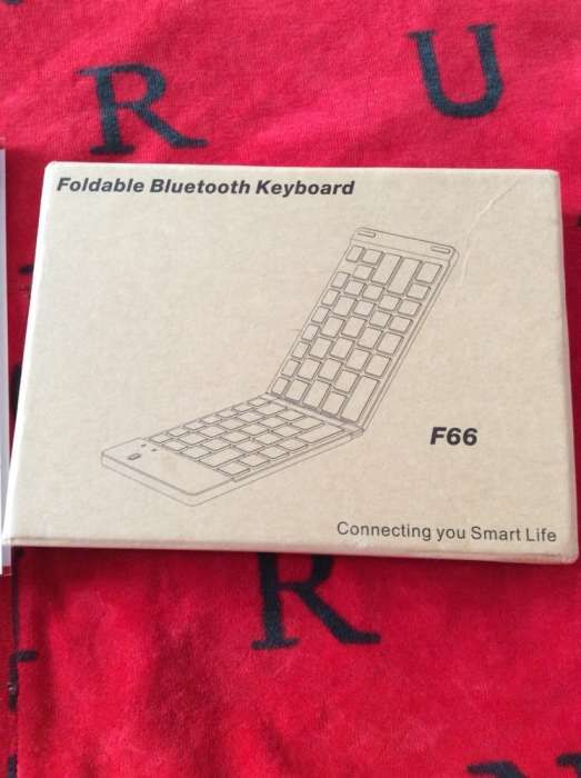 Tastatura bluetooth, gold, compatibila Windows, Android, IOS