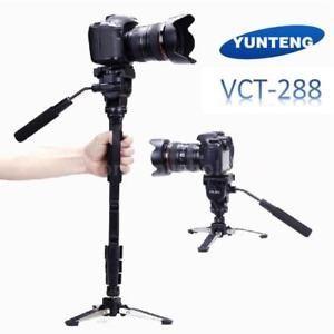 Monopied Yunteng VCT-288 Aluminium Monopod cap video
