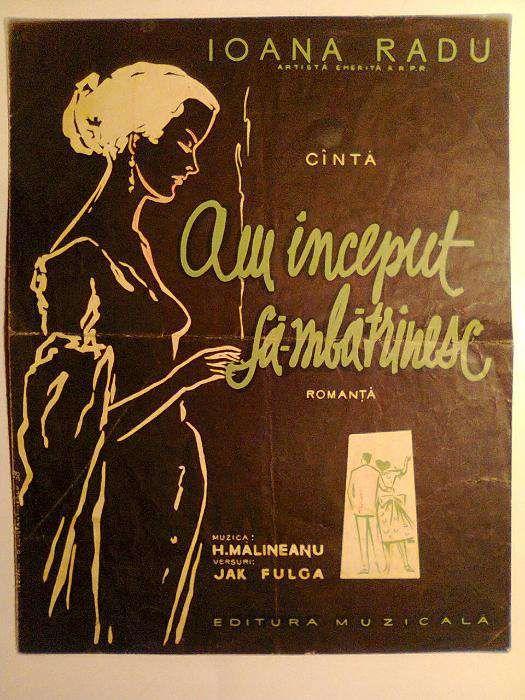 Partitura vintage - Ioana Radu - Am început să-mbătrînesc - 1958