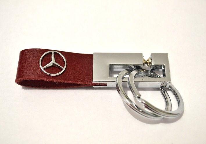 Breloc Mercedes piele naturala