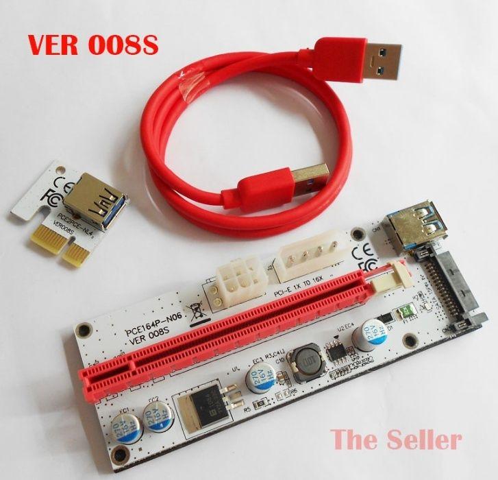 ***НАЛИЧНИ*** VER008S PCI-E extenders, USB Risers, Екстендери, Рейзъри