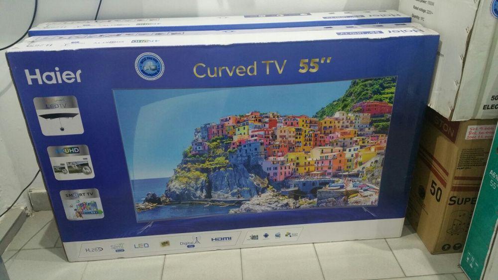 Grande promoção de tvs haier LED FULL HD 4k SMART curved 55 polegadas