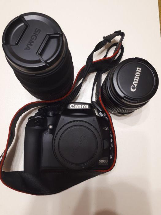 Canon EOS 1000d + obiectiv 18-55mm+ obiectiv 70-300mm