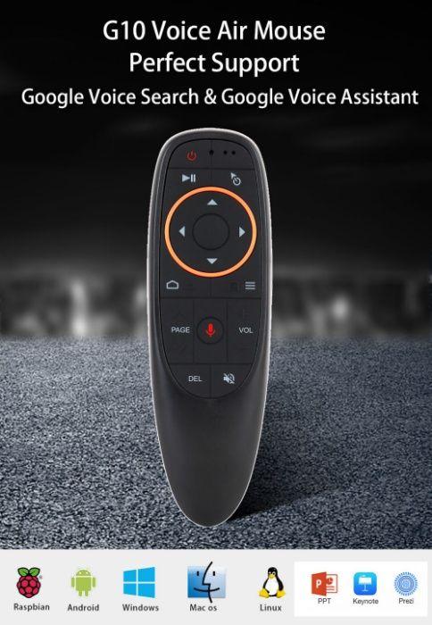 с голосовым управлением Air мышь пульт с гироскопом Google микрофон