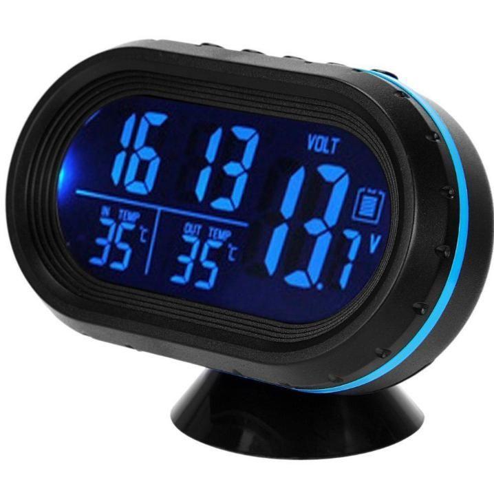 Voltmetru digital+ceas+termometru interior+exterior-ICE ALARM