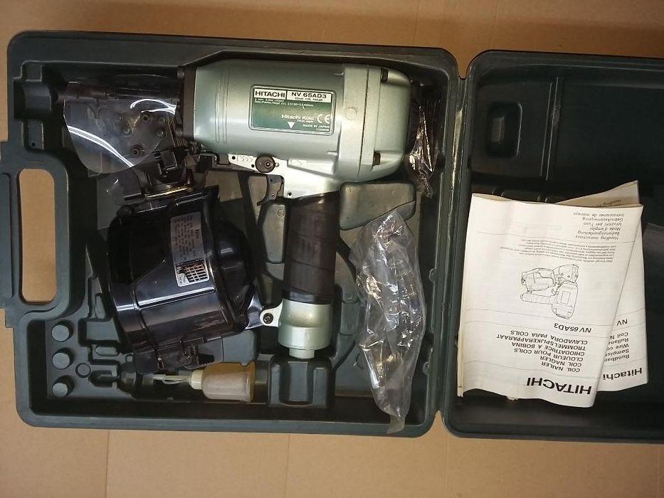 Pistol cuie pneumatic NOU HiTACHI NV65 AD3 TVA deductibil garantie