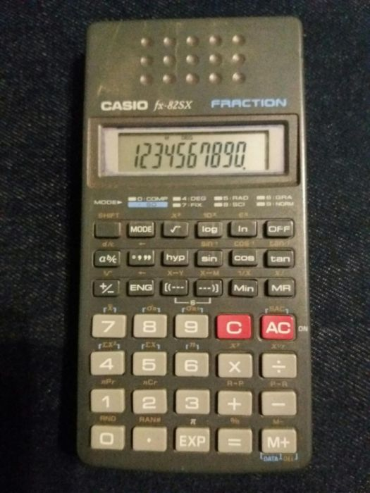 Casio fx-82sx Fraction - calculator stiintific vintage trigonometrie