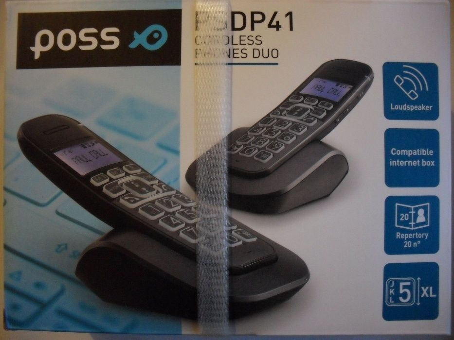 POSS, Model PSDP41DUO, Franta, telefon fix, 2 RECEPTOARE, wireless (fa