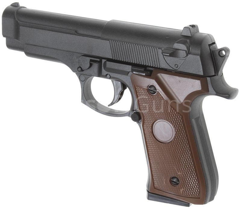 Pistol airsoft IEFTIN Full Metal Slide Cu bile(spring)Manual co2 gaz