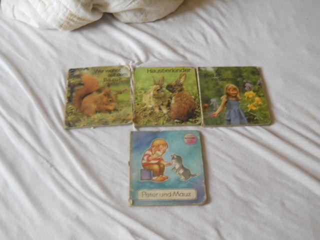 Set 4 carti cu poze cu animale pt copii 1- 3 ani Germania 1989-1990