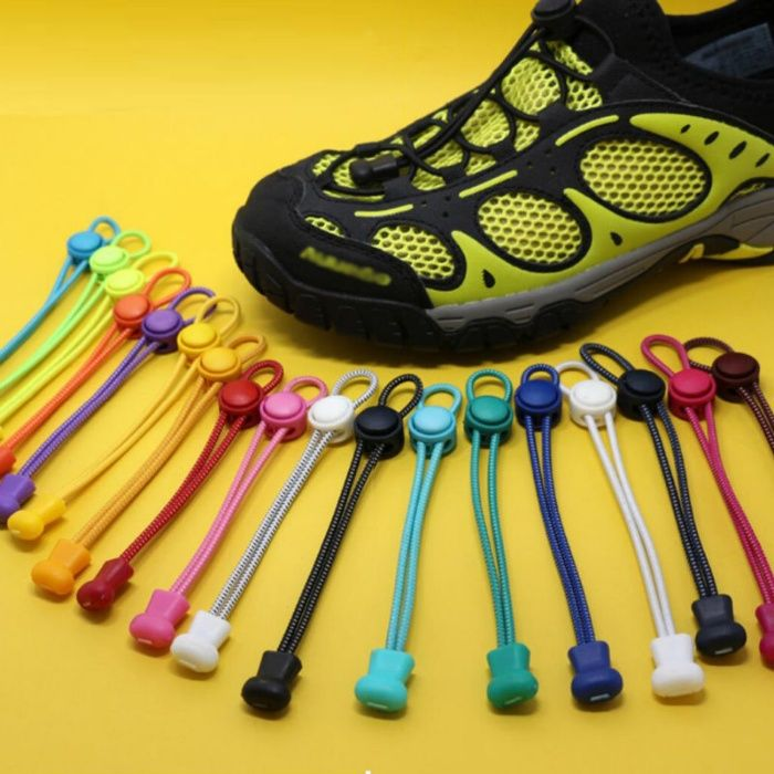 Затягащи Връзки За Спортни И Ежедневни Обувки. Подходящи За Деца