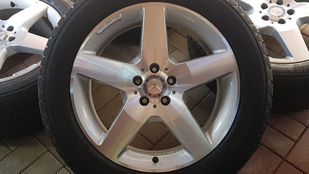 Jante Mercedes 19 ML GLE W166 AMG 255 50 R19 Michelin iarnă