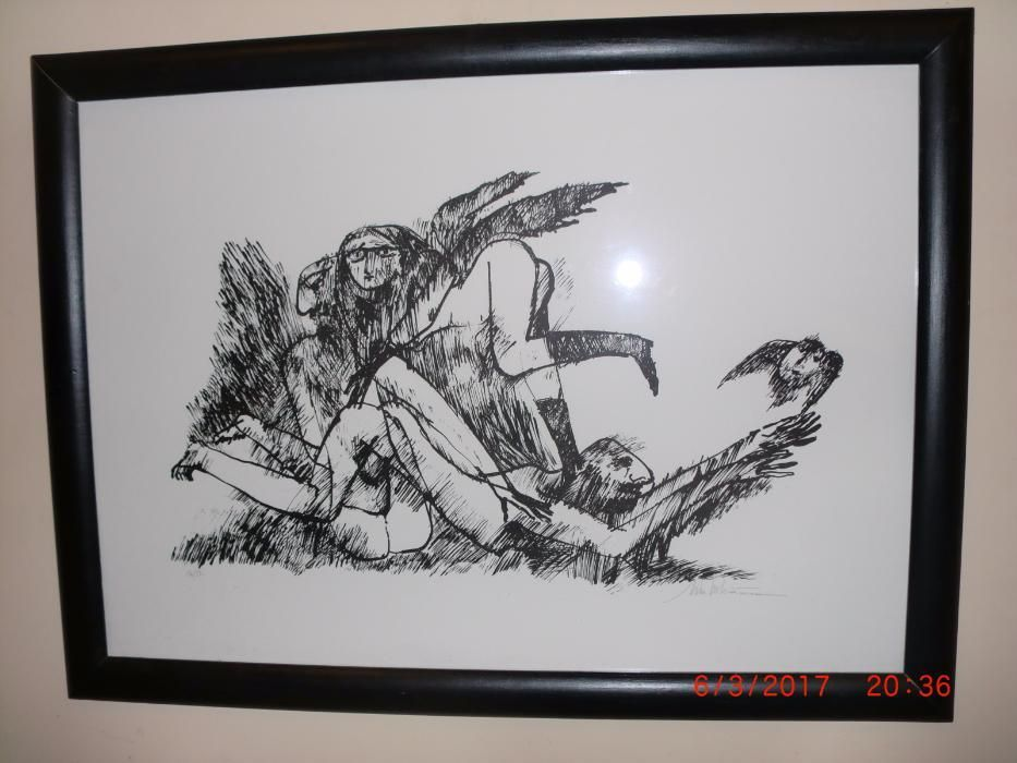 Mihu Vulcănescu - Erotica - litografie semnata și numerotata