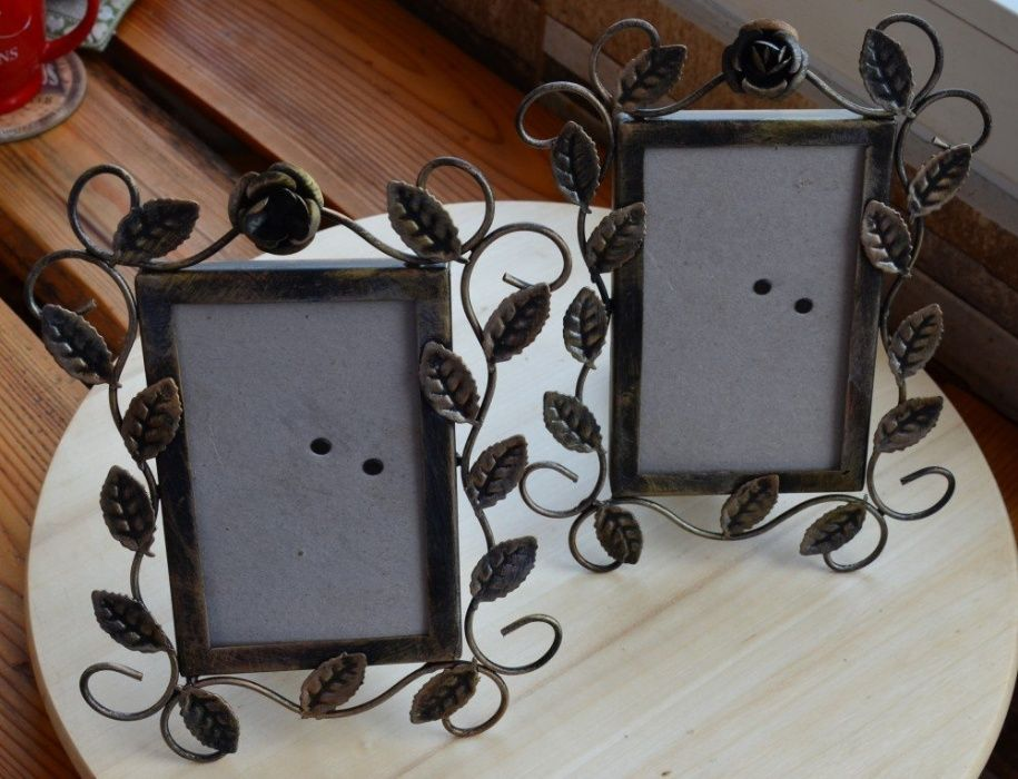 Rama foto metalica lucrata manual / Rama foto handmade