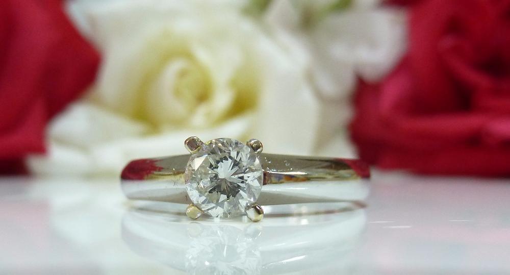 Inel aur 14k cu diamante 0.56ct