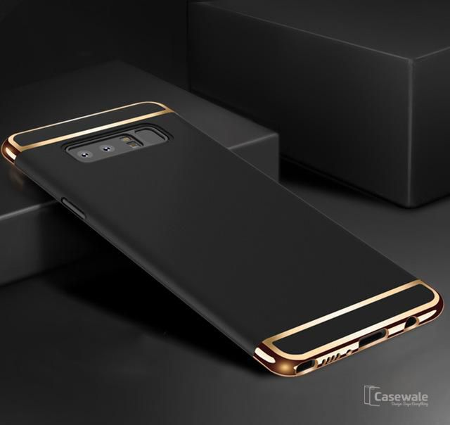 Husa Elegance Luxury 3 in 1 pentru Samsung Galaxy Note 8 Neagra