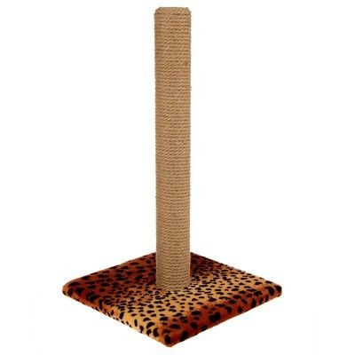 """Когтеточка """"Столбик"""" на подставке, 54 х 31 см, джут"""