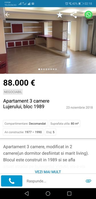 Apartament 3 camere lujerului Atentie VA rog