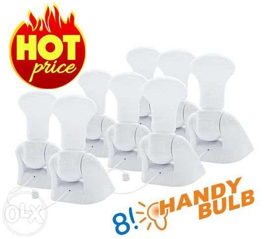 8 becuri Handy Bulb LED bec fara fir cu intrerupator