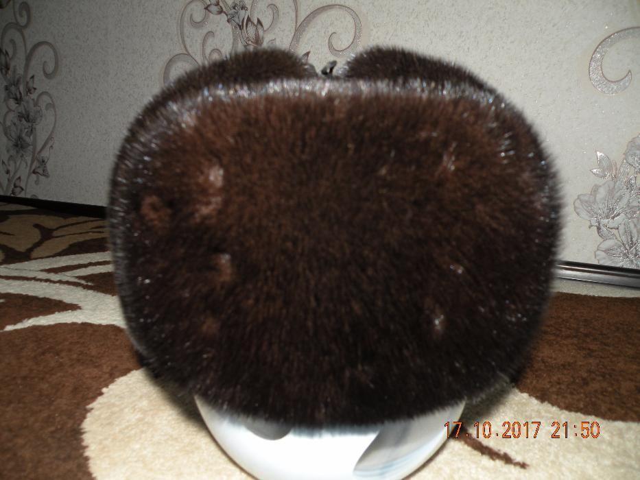 Шапка норковая ушанка полная мужская 25000 тенге